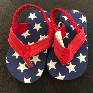 Baby 4th of July sandals